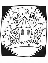 Haunted Coloring Halloween Castle Mansion Cartoon Sheets Printables Ghosts Printable Spooky Drawing Adults Printactivities Popular Pumpkin Library Clipart Coloringhome Getdrawings sketch template