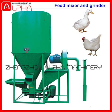 drum poultry feed mixer corn grinder for chicken feed animal feed processing machine