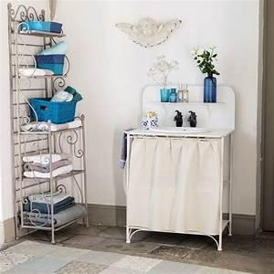 Meuble De Salle De Bain Maison Du Monde : salle de bains d co blanche un shopping inspirant c t maison ~ Melissatoandfro.com Idées de Décoration