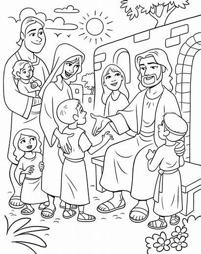 Children Jesus Coloring Christ Primary Pdf True
