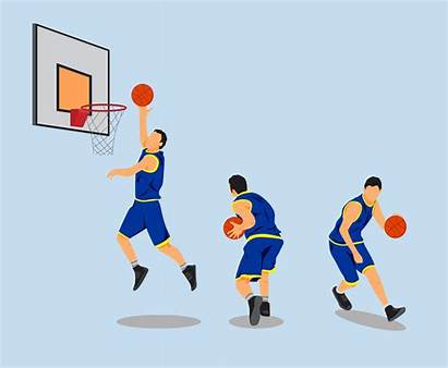 Basketball Vector Players Athletes Clipart Player Vectors