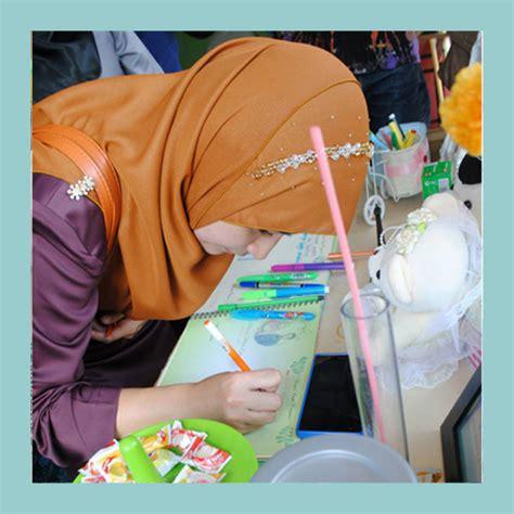 pastel creative guest book