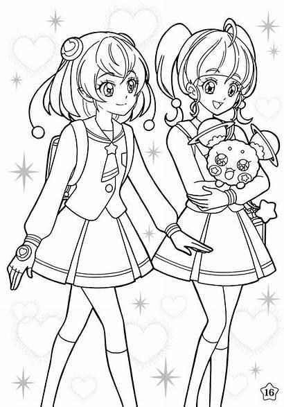 Precure Twinkle Coloring Line Zerochan Anime Fuwa