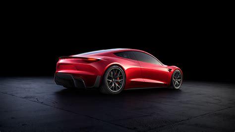 2020 Tesla Roadster back side view red color shine on ...