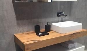 Plan De Travail Salle De Bain Bois : meuble salle de bain bois avec plan de travail salle de bain en bois pour tous les styles 20 ~ Teatrodelosmanantiales.com Idées de Décoration