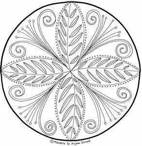 Zartes Florales Mandala Fr Erwachsene MandalaMalspiel