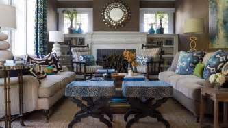 Animal Print Accent Chairs by 15 Interesting Combination Of Brown And Blue Living Rooms