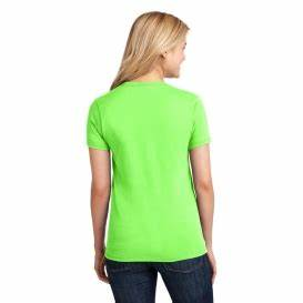 Port & pany LPC54 La s 5 4 oz Cotton T Shirt Neon