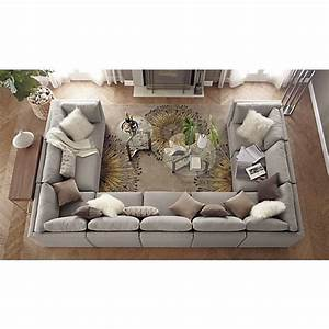 Moda 9 piece sectional sofa in sectional sofas crate and for Moda 9 piece sectional sofa