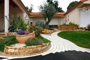 Jardin Paysager Exemple : exemple d amenagement de jardin d 1 exemple creation jardin paysager ~ Melissatoandfro.com Idées de Décoration