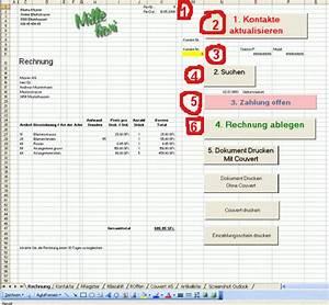 Excel Rechnung Mit Kundendatenbank : fakturieren mit excel und outlook ~ Themetempest.com Abrechnung