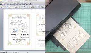 free template vintage wedding invitation with art deco band With how to print wilton wedding invitations at home
