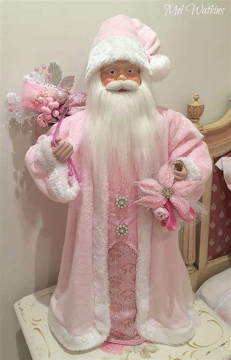 shabby chic santa shabby chic victorian large santa that my mum and i made pink