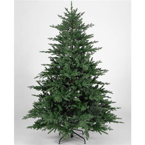 225cm 7ft 4in flat rock frasier fir green pe premium artificial christmas tree