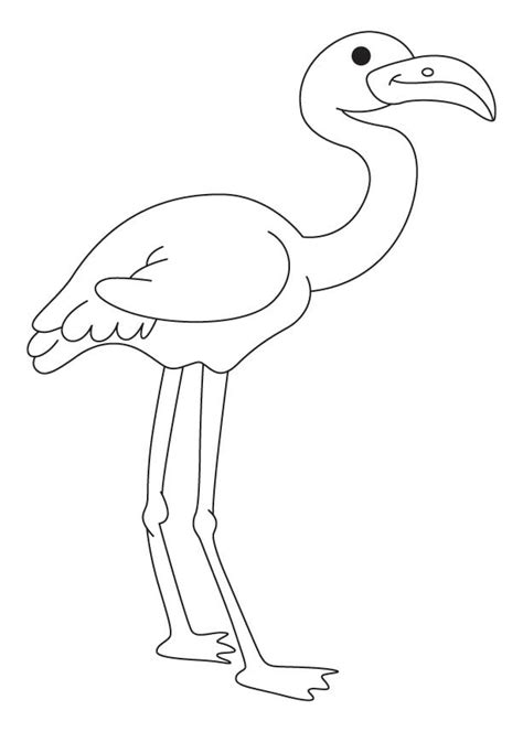 Flamingo Kleurplaat by Pink Flamingo Coloring Pages Coloring Home