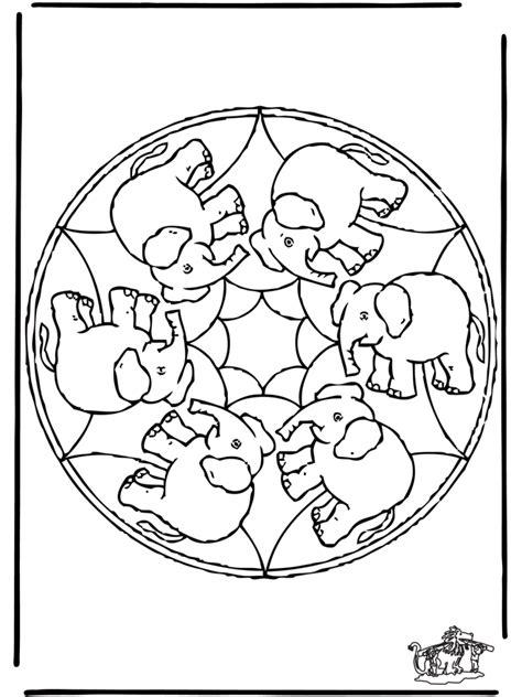 Mandala Kleurplaten Olifant by Mandala Olifant Dierenmandala S