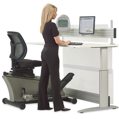 elliptical machine adjustable height desk the green