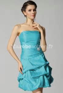 robe de mariã e turquoise robe de cocktail courte bustier ballon taffetas laçage dans le dos