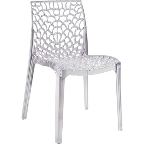 table et chaises de jardin leroy merlin chaise de jardin en polycarbonate grafik transparent