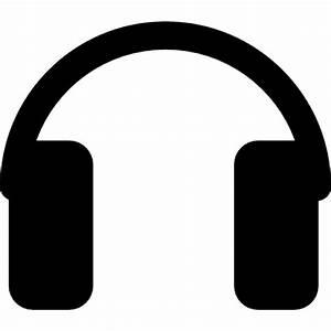 Rectangular headphones silhouette Icons | Free Download