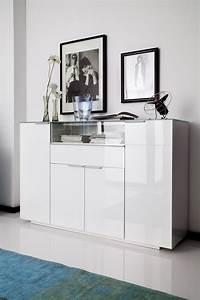 Kommode Mit Glasplatte : dreams4home highboard cesena hochglanz wei lackiert ~ Lateststills.com Haus und Dekorationen