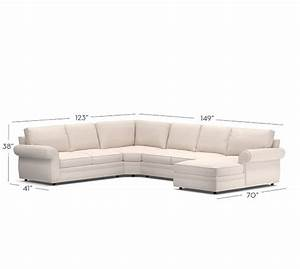 quick ship pearce upholstered 4 piece chaise sectional With sectional sofa quick ship