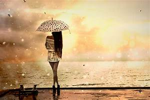 Image Gallery lonely girl in rain