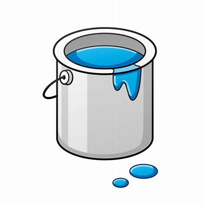 Paint Cartoon Bucket Cans Vector Clip Illustrations