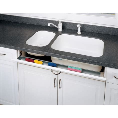 sink front tip out tray rev a shelf 14 in polymer tip out sink front trays 6572
