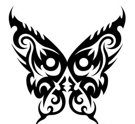 Beautiful Butterfly Tribal Tattoo Design Ideas, Pictures