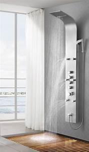 Duschpaneel Mit Thermostat : edelstahl duschpaneel duschs ule brausepaneel thermostat ~ Michelbontemps.com Haus und Dekorationen