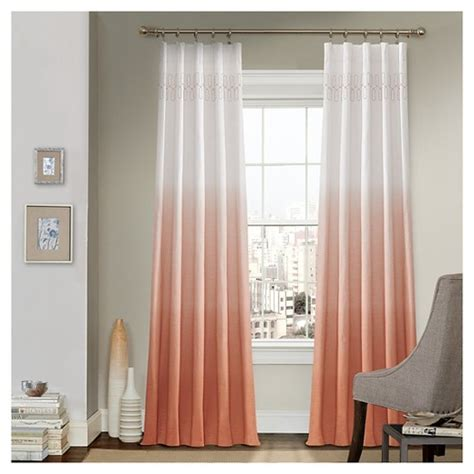 ombre window curtains vue signature arashi ombre embroidery curtain panel target