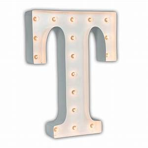 white 24 inch letter t marquee light by vintage marquee lights With letter t light