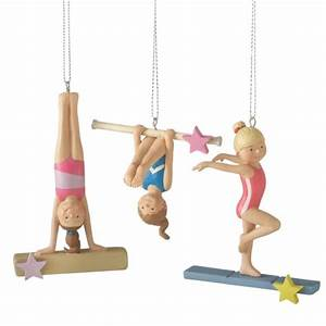 Girl Gymnast Christmas Ornaments (Set of 3) Midwest-CBK
