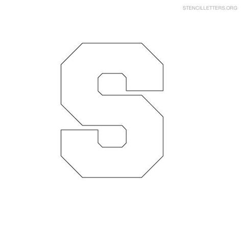 Block Letter Template Free by Free Printable Block Letter Stencils Stencil Letters S