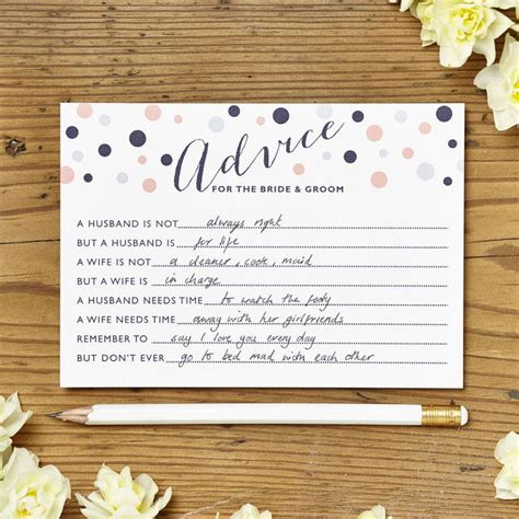 Bridal Shower Advice Cards Template Bridal Shower Advice Cards Template Free Template Design
