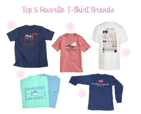 The Pink And Green Prep Top 5 Favorite Tshirt Brands