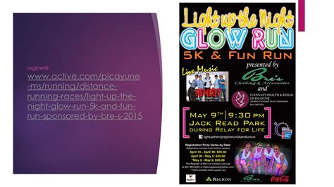 light up the 5k light up the glow run 5k and run sponsored by