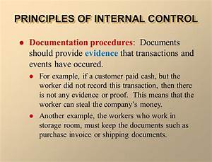 Internal control and cash ppt video online download for Documents of internal control