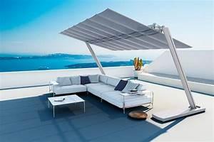 Parasol Grande Taille : grand parasol autoportant aluminium toile inclinable flexy zen ~ Melissatoandfro.com Idées de Décoration