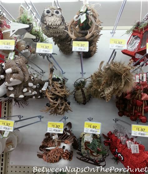 christmas walmart decor ornaments make inexpensive napkin rings and placecard holders
