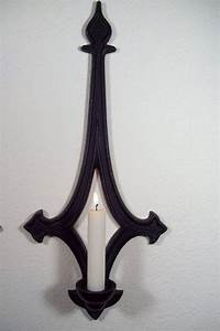 Gothic Style Black Metal Wall Sconces Candle by