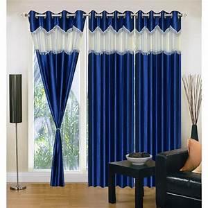 "Buy Set of 3 IWS Designer (""7"" feet) Window Curtain"