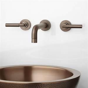 Triton wall mount bathroom faucet lever handles bathroom for Wall mounted faucets
