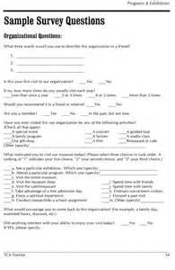 Sample Survey Questionnaire Examples