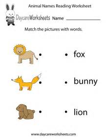 Free Preschool Reading Worksheets