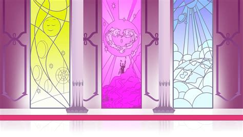 purple bedroom throne room stained glass windows background by