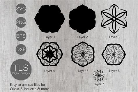 I'm giving you free svg files and i you'll see that the topmost layer is very thin. 3D Mandala Layered SVG (564009) | Cut Files | Design Bundles