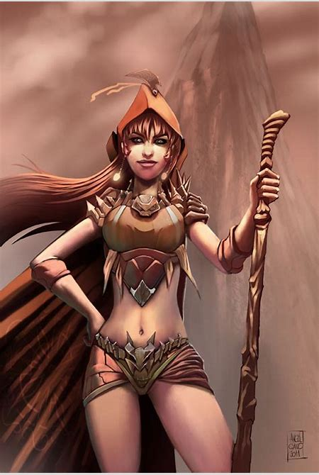 mountain tribe chick by angelcanohn on DeviantArt