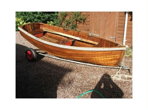 Rowing Boat For Sale Cheshire by Rowing Dinghy Varnished Clinker In Cheshire Power Boats